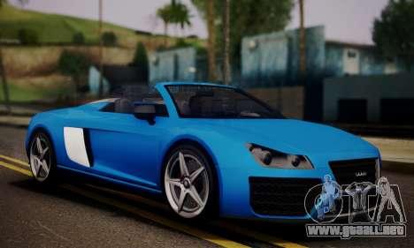 Obey 9F Cabrio para GTA San Andreas vista posterior izquierda