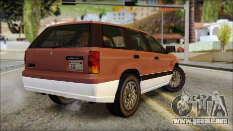 Seminole from GTA 5 para GTA San Andreas left