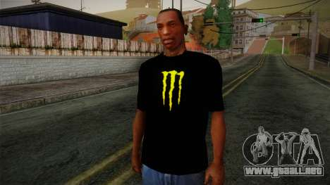 Monster Energy Shirt Black para GTA San Andreas