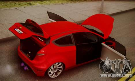 Ford Fiesta Turkey Drift Edition para visión interna GTA San Andreas