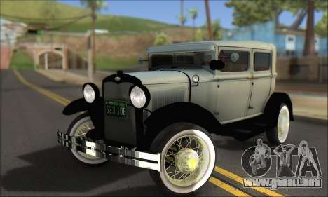 Ford A 1930 para vista inferior GTA San Andreas