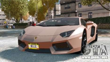 Lamborghini Aventador LP700-4 para GTA 4