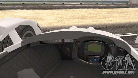 Caparo T1 2012 para la visión correcta GTA San Andreas