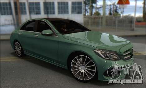 Mercedes-Benz C250 V1.0 2014 para la visión correcta GTA San Andreas