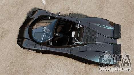 Pagani Zonda C12S Roadster 2001 v1.1 PJ3 para GTA 4 visión correcta
