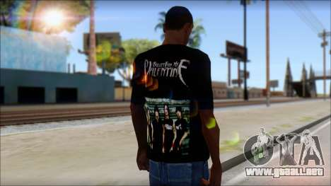 Bullet for my Valentine Fan T-Shirt para GTA San Andreas segunda pantalla