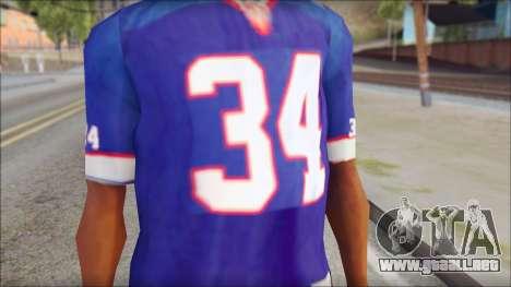 NY Buffalo Bills Blue para GTA San Andreas tercera pantalla