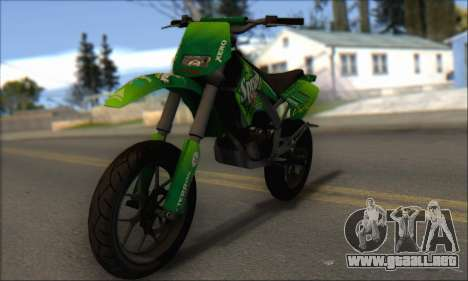 Sanchez from GTA V - Supermoto para GTA San Andreas left