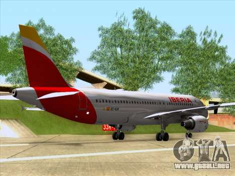 Airbus A320-214 Iberia para GTA San Andreas vista posterior izquierda
