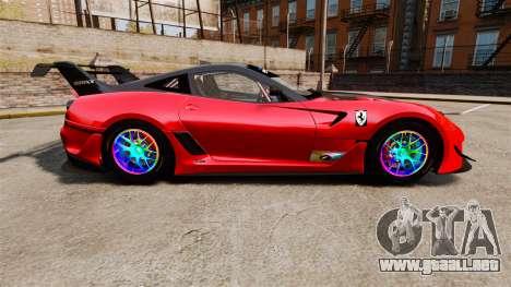 Ferrari F599 XX Evoluzione Simple CarbonFiber para GTA 4 left