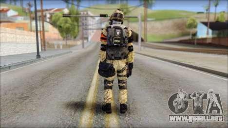 Opfor PVP from Soldier Front 2 para GTA San Andreas segunda pantalla