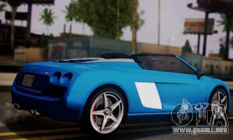 Obey 9F Cabrio para GTA San Andreas left