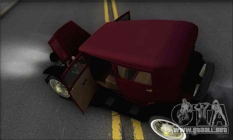 Ford A 1930 para la vista superior GTA San Andreas