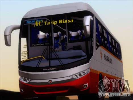 Marcopolo Paradiso 1200 Harapan Jaya para GTA San Andreas vista hacia atrás