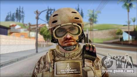 Desert SFOD from Soldier Front 2 para GTA San Andreas tercera pantalla