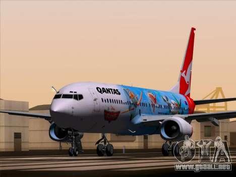 Boeing 737-800 Qantas para GTA San Andreas vista posterior izquierda