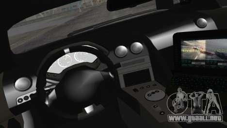 Lamborghini Murcielago LP670 SV Police para GTA San Andreas vista hacia atrás