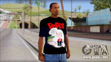 Popeye T-Shirt para GTA San Andreas