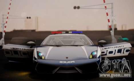 Lamborghini Gallardo LP 570-4 2011 Police v2 para vista inferior GTA San Andreas