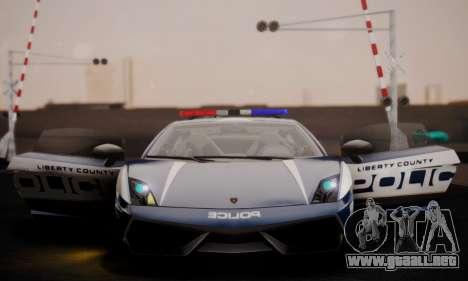 Lamborghini Gallardo LP 570-4 2011 Police v2 para la vista superior GTA San Andreas