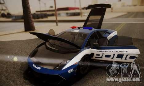 Lamborghini Gallardo LP 570-4 2011 Police v2 para las ruedas de GTA San Andreas