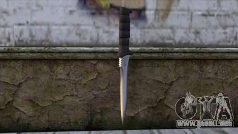 Knife from Resident Evil 6 v2 para GTA San Andreas segunda pantalla
