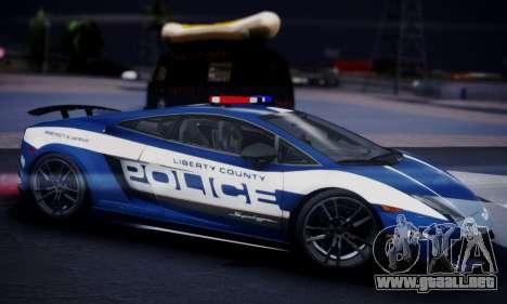Lamborghini Gallardo LP 570-4 2011 Police v2 para la visión correcta GTA San Andreas