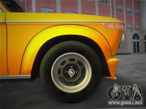 BMW 2002 Tii (E10) 1973 para GTA Vice City vista posterior