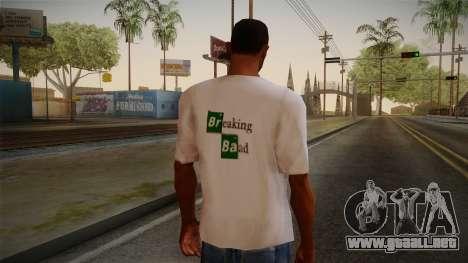Breaking Bad Shirt para GTA San Andreas segunda pantalla