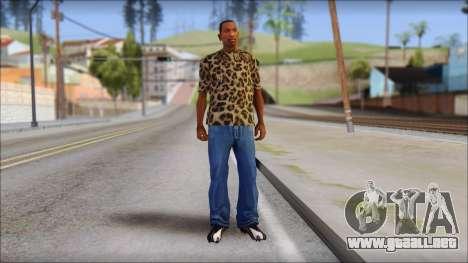 Tiger Skin T-Shirt Mod para GTA San Andreas tercera pantalla