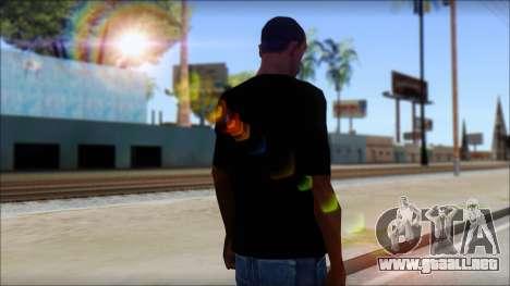 WWE Nexus T-Shirt para GTA San Andreas segunda pantalla