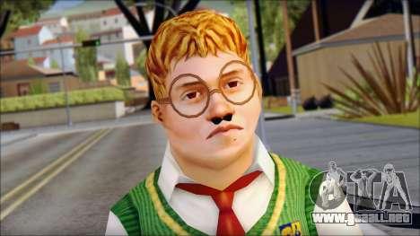 Algernon from Bully Scholarship Edition para GTA San Andreas tercera pantalla