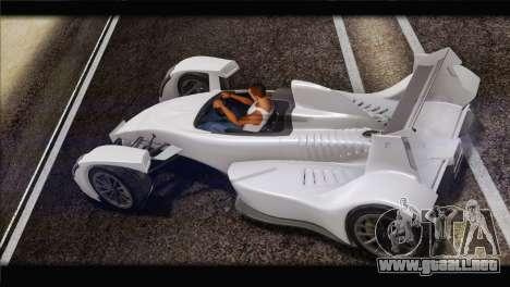 Caparo T1 2012 para GTA San Andreas left