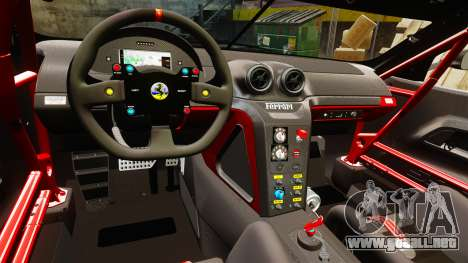 Ferrari F599 XX Evoluzione Simple CarbonFiber para GTA 4 vista interior