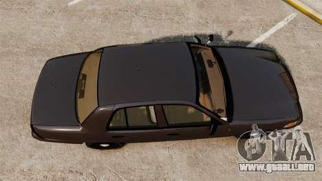 Ford Crown Victoria Sheriff [ELS] Unmarked para GTA 4 visión correcta