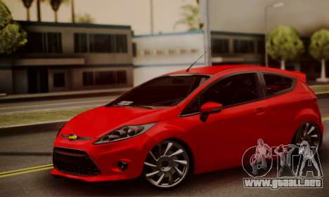Ford Fiesta Turkey Drift Edition para GTA San Andreas vista posterior izquierda