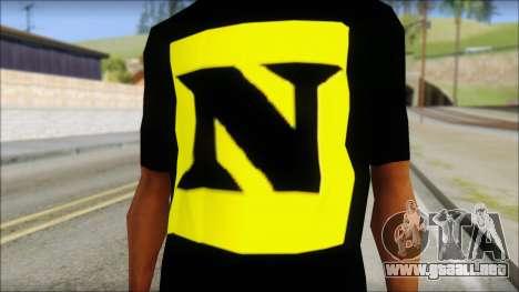 WWE Nexus T-Shirt para GTA San Andreas tercera pantalla