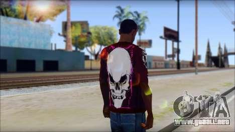 Skull T-Shirt para GTA San Andreas segunda pantalla