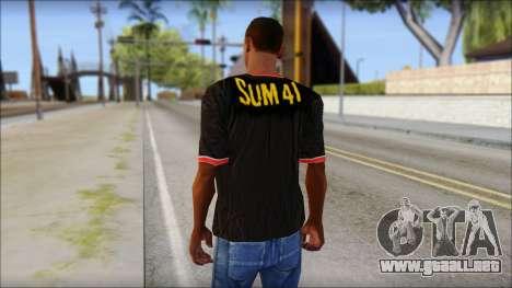 Sum 41 T-Shirt para GTA San Andreas segunda pantalla