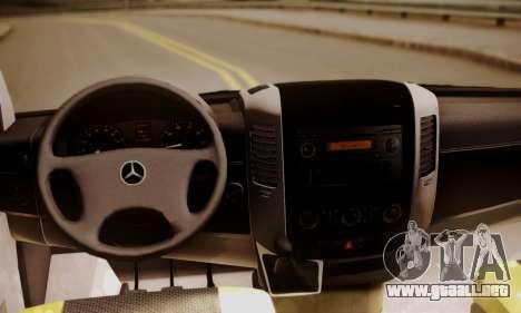 Mercedes-Benz Sprinter 315 CDi para GTA San Andreas vista hacia atrás