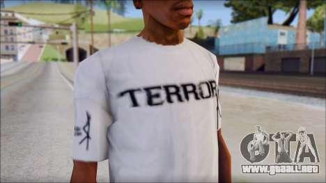 Terror T-Shirt Hardcore para GTA San Andreas tercera pantalla