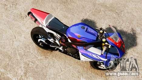 Yamaha YZF-R1 PJ1 para GTA 4 visión correcta