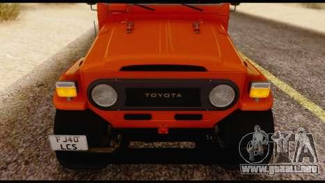 Toyota Land Cruiser (FJ40) 1978 para GTA San Andreas vista hacia atrás
