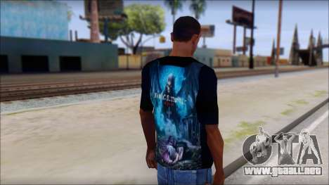 Avenged Sevenfold Nightmare Fan T-Shirt para GTA San Andreas segunda pantalla