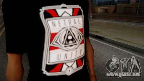 Netral T-Shirt para GTA San Andreas tercera pantalla