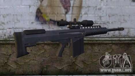 Heavy Sniper from GTA 5 v2 para GTA San Andreas segunda pantalla