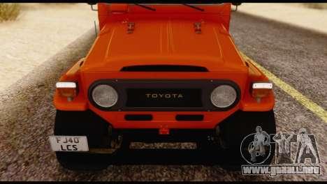 Toyota Land Cruiser (FJ40) 1978 para visión interna GTA San Andreas