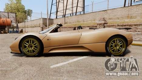 Pagani Zonda C12S Roadster 2001 v1.1 para GTA 4 left
