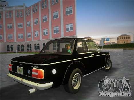 BMW 2002 Tii (E10) 1973 para GTA Vice City left