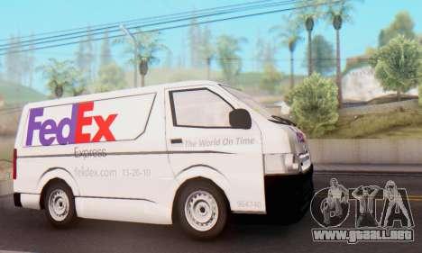 Toyota Hiace FedEx Cargo Van 2006 para GTA San Andreas